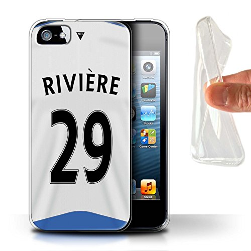 Offiziell Newcastle United FC Hülle / Gel TPU Case für Apple iPhone 5/5S / Pack 29pcs Muster / NUFC Trikot Home 15/16 Kollektion Rivière