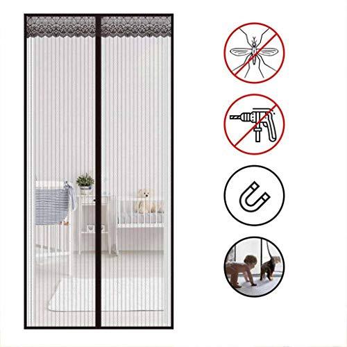 CHENG Magnet Fliegengitter Balkontür, Insektenschutz Tür, Klettband Kinderleichte Klebemontage Ohne Bohren Vorhang für Balkontür Wohnzimmer 70×200cm(28×79inch)