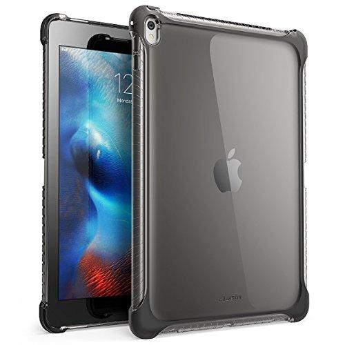 Apple iPad Pro 9.7 Hülle, i-Blason TPU Case Transparent Schutzhülle Kratzfest Cover für Apple iPad Pro 9,7 Zoll 2016, Klar/Schwarz