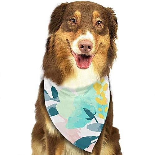 YAGEAD Hund Bandana Welpe und Haustier Bandanas, Aquarell Blumenmuster Haustier Schal