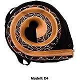 didgeridoo redondo forma Instrumento Natural materiales Bolsa de viaje espiral Australia, D4