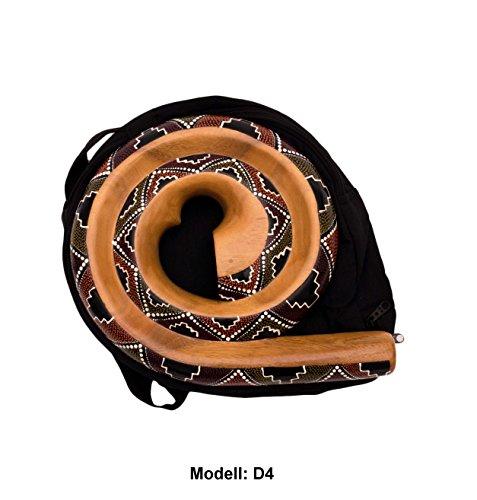 Didgeridoo Rundform Instrument Naturmaterialien Reisetasche Spirale Australien (D4)