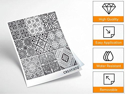 autocollant carrelage vinyle adh sif sticker feuille pour carreaux salle de bain et cr dence. Black Bedroom Furniture Sets. Home Design Ideas