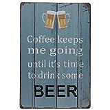 #6: Imported Vintage Metal Tin Sign Plaque Wall Art Poster Sheet Home Cafe Bar Pub Beer.