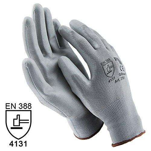 ASATEX Handschuhe Arbeitshandschuhe GUMMIERT - GRAU Größe 8 / M (60 Paar)