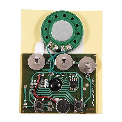 Fosa 30s Musik Sound Voice Recorder Modul Gerät Chip 0,5 Watt mit Knopfbatterie für DIY Audiokarten(lichtempfindliche Steuerung) (Sound-modul Chip)