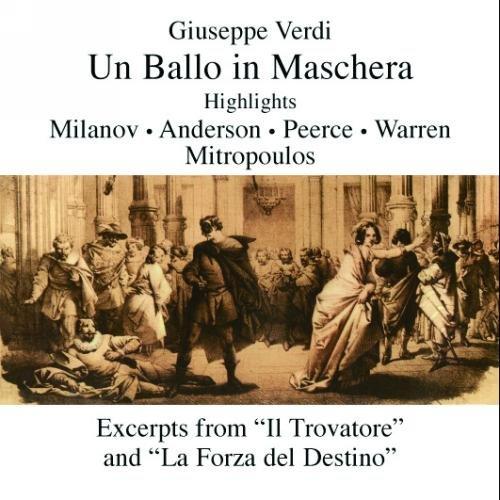 Verdi : Maskenball Highlights Und Arien. Mitropoulos, Warren, Peerce, Milanov.