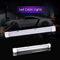 LED T5 Innenraumbeleuchtung Auto Lampe, LED Deckenleuchte mit Schalter, 12V 6000K Interior Licht Leseleuchte Scheinwerfer Arbeitsleuchten für Wohnmobil Wohnzimmer LKW KFZ Wohnwagen von Ankishi