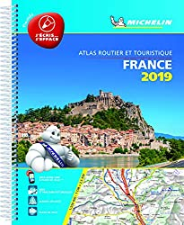 France 2019 -Tourist & Motoring Atlas A4 Laminated Spiral (Michelin Road Atlases)