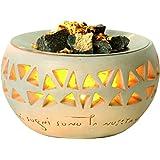 Vitalofen Lámpara Aromática Aroma Ambiental hermoso calentador para piedras de sauna mezcla aromática