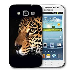 Snoogg Leopard Face Designer Protective Back Case Cover For Samsung Galaxy Win i8552
