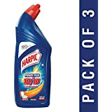 Harpic Power Plus Disinfectant Toilet Cleaner, Orange, 1L (Pack of 3)