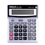 Taschenrechner Standard Solar und Batterie Elektronisch Dual-Power Calculator große tasten großes display Tischrechner für senioren büro office home Desktop business Verkäufe Rechenmaschine weiß