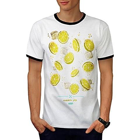 Summer Joy Lemon Holiday Men M Ringer T-shirt | Wellcoda