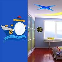 SADASD Piratenschiff Kinderzimmer Wandleuchte einfache LED-Schlafzimmer Bett Cartoon Night Light Boy Zimmer Wandleuchte 40*33cm.