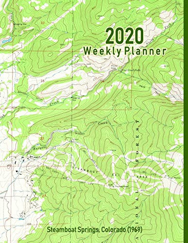 2020 Weekly Planner: Steamboat Springs, Colorado (1969): Vintage Topo Map Cover -