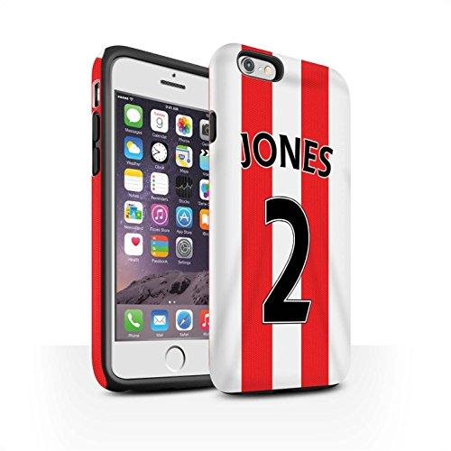 Offiziell Sunderland AFC Hülle / Matte Harten Stoßfest Case für Apple iPhone 6S / Pack 24pcs Muster / SAFC Trikot Home 15/16 Kollektion Jones