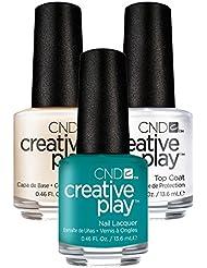 CND Creative Play Head Over Teal Nr. 432 13,5 ml mit Creative Play Base Coat 13,5 ml und Top Coat 13,5 ml, 1er Pack (1 x 0.041 l)