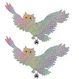 CCMART Vogelschreck Abwehr Gerät - Reflektierende hängende Eule - Specht Abschreckung - Erschrecken und erschrecken Tauben, Möwen, Schädlinge zum Schutz von Blumen (2 Pack)