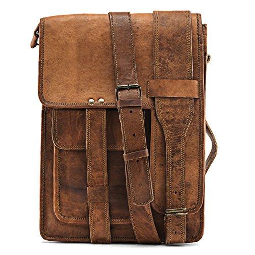 A.P. Donovan - Tasche Leder Herren braun - Men's Bag, Messanger bag, Leder-Umhänge-Tasche-15
