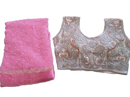 Balaji Fashion Brocade & Georgette Saree (D.No Dvs 5025_Multi-Coloured)