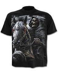 Spiral T-shirt pour homme Motif Death Rider Noir