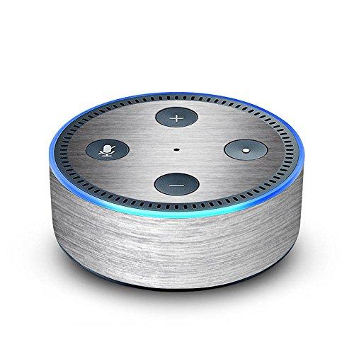 amazon Echo Dot 2.Generation Folie Skin Sticker aus Vinyl-Folie Metal Look Silber Glitter Glitzer