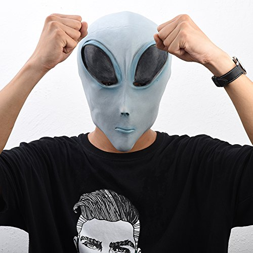 KHFFJ Scary Alien Latex Masken Halloween Et Cosplay Requisiten Party Kostüm Extra Terrestrische Maske