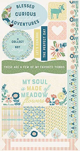 Paper Accents Cardstock (Authentique Paper Meadow Double-Sided Cardstock Die-Cut Sheet 6