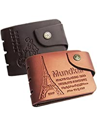 Black & Tan Wallet For Men Stylish Branded Leather. (Note : Wallet Is Made Of Artificial Leather ) Set Of 2 Wallets