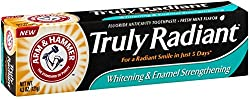 2 Pack - ARM & HAMMER Truly Radiant Whitening & Enamel Strengthening Fluoride toothpaste, Fresh Mint, 4.3 oz
