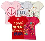 #3: Cherokee Girls' Plain Regular Fit T-Shirt (Pack of 5)