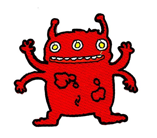 Monster Cartoon Kids Kinder Cute Animal Patch für Heimwerker-Applikation Eisen auf Patch T Shirt Patch Sew Iron on gesticktes Badge Schild Kostüm (Alien Kostüm Diy)