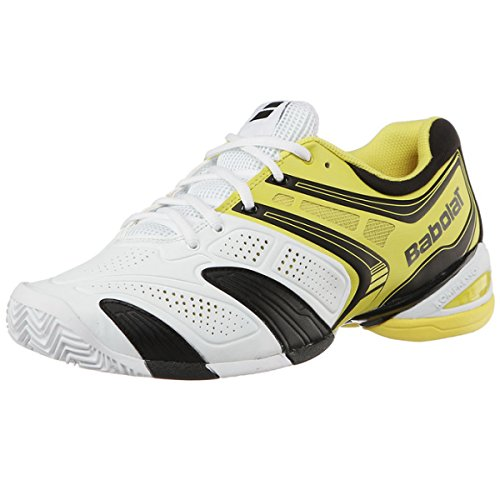 BABOLAT V-Pro 2 Clay Zapatilla de Tenis Caballero, Blanco/Negro/Amarillo, 47