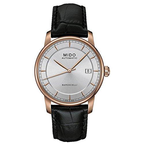 Mido Herren-Armbanduhr XL Baroncelli Analog Automatik Leder M86003104