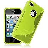 JAMMYLIZARD | S-Line Silikon Case Hülle für iPhone 4 und 4s, Grün