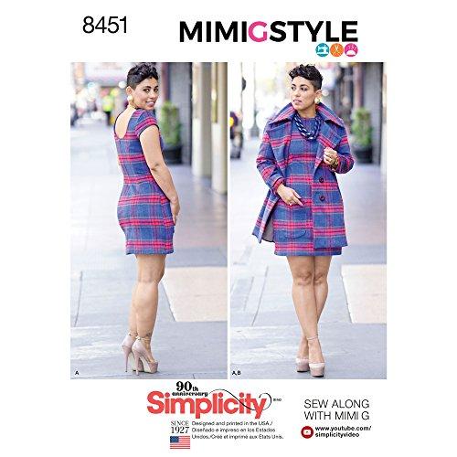 Simplicity Patterns Dresses, U5 (16-18-20-22-24) -