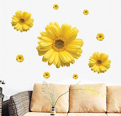 MTH Abnehmbare cycle-usable Blumen und Baum Themen-Tapete Wandtattoo Wanddekoration für Zuhause Home Living Raum Dekoration (Margarita)