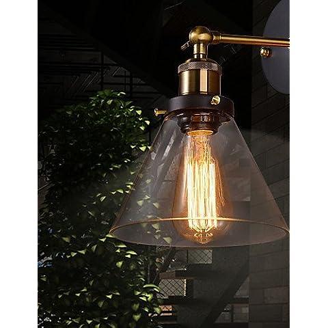 ASNSWDC® applique da parete retrò con floreale diffusore in vetro e staffa metallica , 220-240v