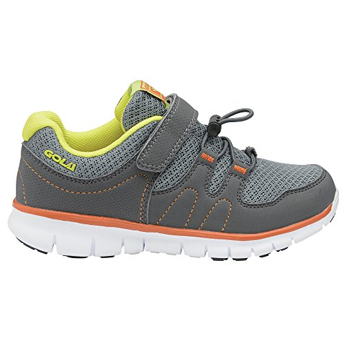 Neuf: Gola Termas Toggle Fitness Chaussures de Sport / Baskets / Sneakers Grey/Volt/Orange