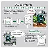 2er-Set AngLink Solar Katzenschreck Ultraschall abwehr mit Batteriebetrieben und Blitz - 5