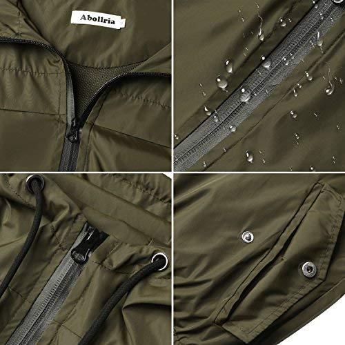 51WQr2OV0SL. SS500  - Abollria Women Rain Jacket Waterproof with Hood Lightweight Active Outdoor Windbreaker Raincoats