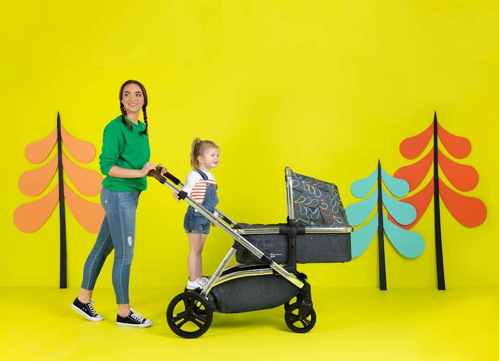 Cosatto Wow XL 3-in-1 Pram and Pushchair, Suitable from Birth - 25 kg, with Tandem Mode and Buggy Board- Nordik Cosatto The flexible family unit, Wow XL has the capability, straight out of the box, to be used as a single child travel system (3-in-1) or as a double/tandem for an older sibling too, with no need to buy any extras (box includes: 1 x Carrycot and 1 x Seat unit) The spacious carrycot is comfy, with extra padded mattress and apron; easy to manoeuvre with one handed pushbutton carrycot release; swap the from-birth carrycot to reversible pushchair seat when they're ready to sit up; the single pushchair mode supports up to 25 kg so your toddler can use it for even longer; with the added ease of one-handed seat unit recline and integrated calf support; the fully extendable hood with visor is 100 UPF and has a peep hole to keep an eye on little ones High-quality craftsmanship; from woven textured fabrics and discoverable details, to gleaming chrome chassis from significant leatherette handle to exquisite embroideries and felt appliques; each design comes with two cuddly travelling companions, straight from Cosatto's famous storytelling pattern; when you explore together, anything can happen 10