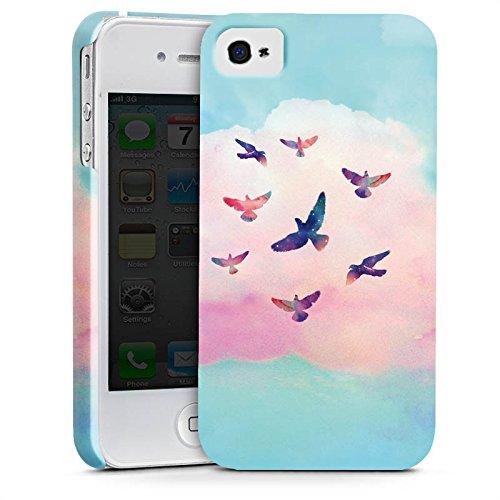 Apple iPhone X Silikon Hülle Case Schutzhülle Vögel Himmel pinke Wolke Premium Case glänzend