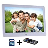 Digitaler Bilderrahmen Digital Photo Frame LCD 10-Zoll Digital Photo Frame Digitaler Bilderrahmen HD, SD, USB, geeignet für JPEG, AVI, MPEG-4, MP3, MPG, mit manuell, inklusive SD Speicherkarte Kingston 2 GB