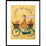 Sam Toft Poster Kunstdruck und Kunststoff-Rahmen - Cat Baskets (80 x 60cm)