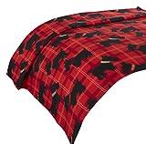 Dreamscene-Scotty cane coperta, animale stampa copriletto, colore: rosso/nero