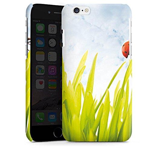 Apple iPhone 5s Housse Étui Protection Coque Brin d'herbe Coccinelle Ciel Cas Premium brillant