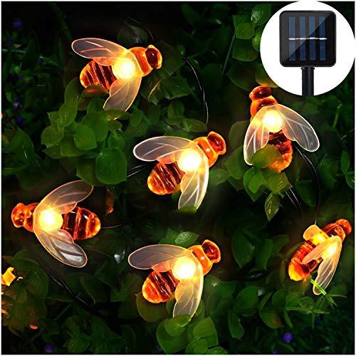 Solar LED Bienen Lichterkette, Mr.Twinklelight® 30 LED Warmweiß Außen Wasserdichte lichterkette Dekorative für Garten, Party, Hochzeit, Haus,Fest Deko Beleuchtung (Warmes Weiß) -