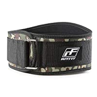 RitFit Weight Lifting Belt - Great for Squats, Clean, Lunges, Deadlift, Thrusters - Men and Women - 6 Inch - Multiple Color Choices - Firm & Comfortable Lumbar Support L(37-43'')